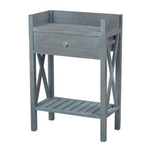 Sterling Industries 137-009 Biscayne-Single Drawer Side Table w/ Bottom ... - $292.00
