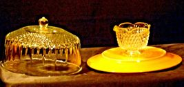 Ceramic Cake Plate and Crystal Cover Heavy AA19-LD11936 Vintage image 10