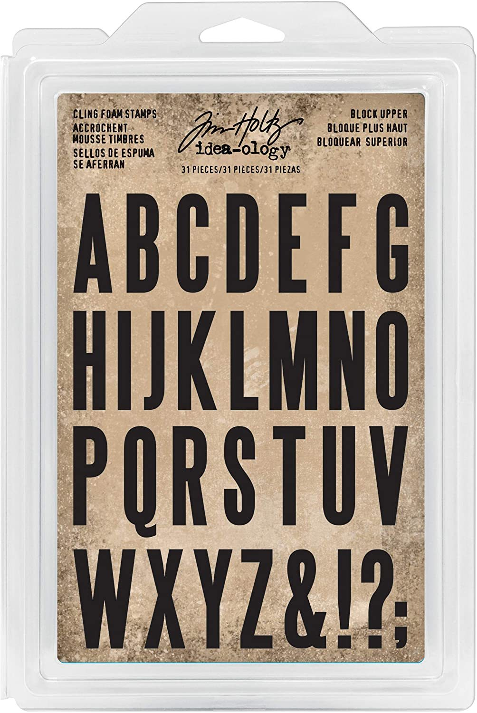 Tim Holtz Cling Foam Upper Block Alphabet Stamp Set #TH93577