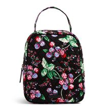 Vera Bradley Quilted Signature Cotton Lunch Bunch Lunch Bag, Winter Berry image 3