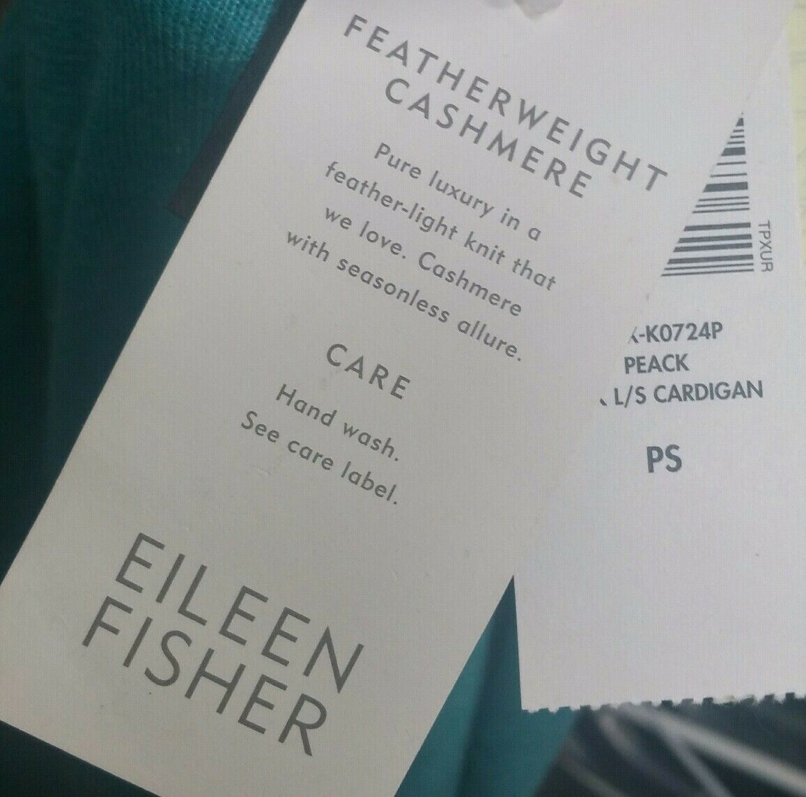 Eileen Fisher Featherweight Cashmere Cardigan Sweater Petite Small PS NWT