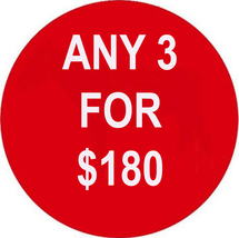 MON-TUES ANY 3 IN STORE FOR $180 INCLUDES ALL LISTINGS BEST OFFERS DEAL - $0.00