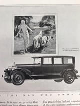 Packard Autoobile Vtg 1926 Print Ad Lady Walking Dogs Advertising Art - $9.89