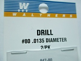 Walthers 947-80  Walthers # 80 /.0135 Diameter  Drill Bit 2 pack image 2