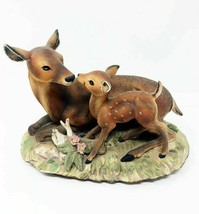 "Masterpiece Porcelain by Homco 1979 ""Fawn with Mother, Sweet Deer"" Figurine - $56.99"