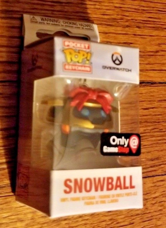 Primary image for Funko Pocket Pop! Overwatch Snowball GameStop Winter Holidays Exclusive Keychain