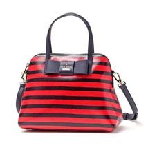 Kate Spade Julia Street Striped Maise Leather Satchel / Crossbody Brand New - $239.00 CAD