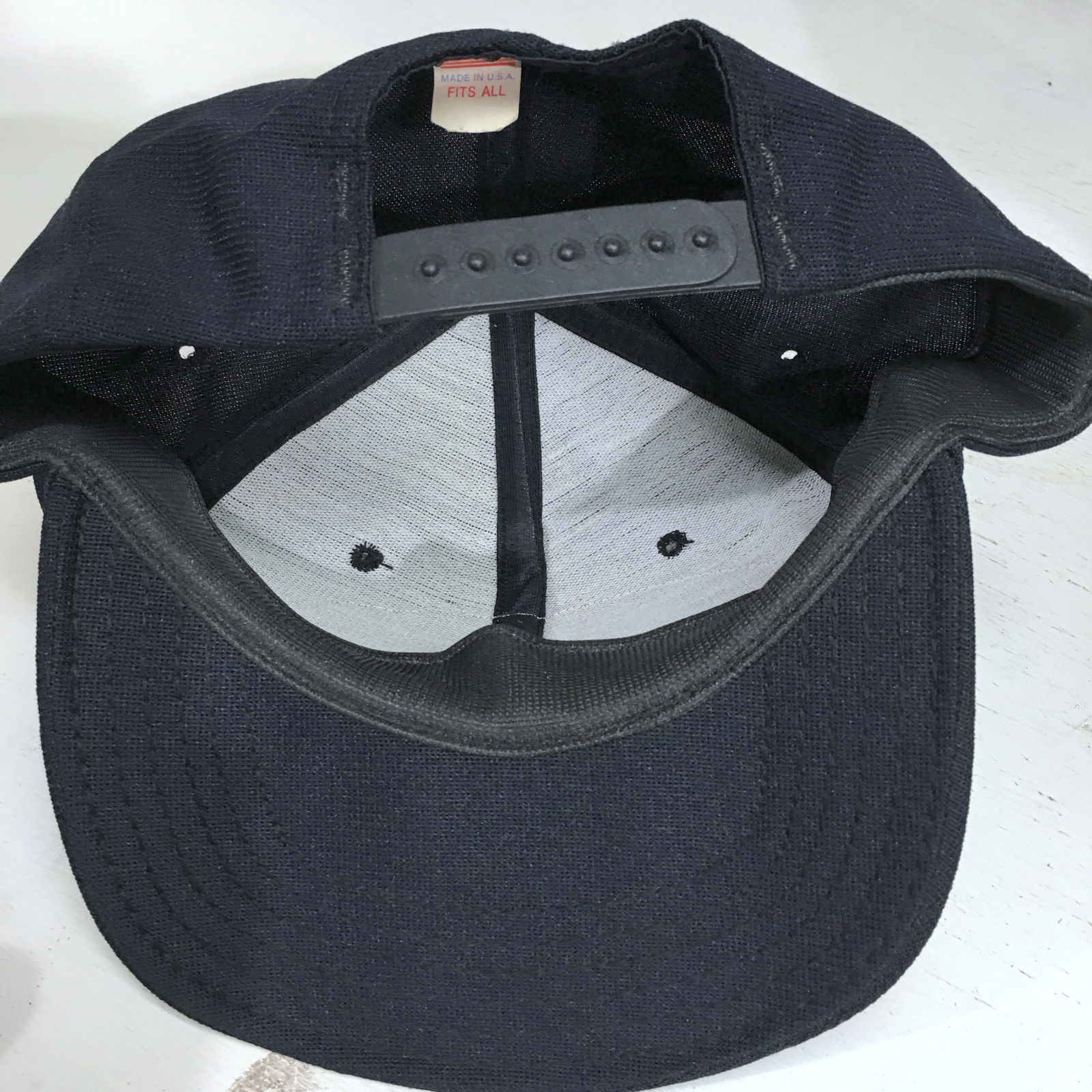USS Missouri Battleship Navy VTG Made in USA Snapback Baseball Cap Hat ERROR image 4