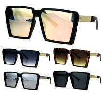 Womens Oversize Squared Robotic Rectangular Diva Futuristic Goth Sunglasses - $12.95