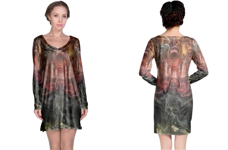 New the legend of zelda ork long sleeve night dress