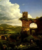 Arch Of Nero Ancient Rome Ruins Italian Landscape Painting By Thomas Cole Repro - $10.96+
