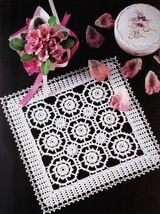 8X Advanced Blossoms Southern Hospitality Roses of Picardy Crochet Doily... - $9.99