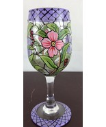Lolita hand-painted WINE TASTING collectible wine glass - $14.03