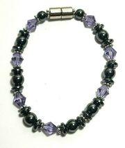 Beaded Bracelet Magnetic Hematite Clasp Single Strand   7 Inch   (MAG-015) image 4