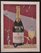 1953 Piper-Heidsieck Piper Brut from 1949 Print Ad Vintage - $7.95