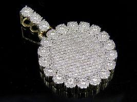Women's Flower Shape Pendant 14k Yellow Gold Plated 925 Silver Round Cut Diamond - $145.99