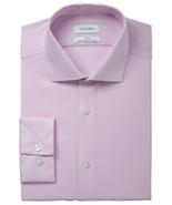 Calvin Klein Light Purple Steel Slim-Fit Non-Iron Stretch Dress Shirt - $21.95
