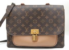 LOUIS VUITTON Monogram Canvas Leather Bag MARIGNAN Flap Handle Shoulder ... - $2,346.50