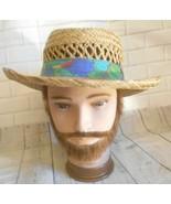Dorfman Pacific Handmade Raffia Straw Medium Large Panama Hat - $21.27