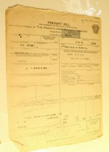 Vintage Pennsyilvania Railroad Freight Bill Invoice 1923 Lots of tears a... - $8.90