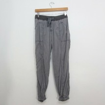 XS - Hei Hei Anthropologie Gray High Rise Drawstring Cargo Jogger Pants ... - $28.00