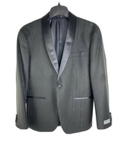 Kenneth Cole Sport Coat Mens 38S Black Evening Jacket Satin Shawl Collar... - $94.05