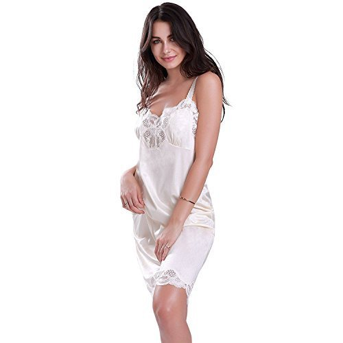 Ilusion Women's Nylon Full Slip with Lace Trim and Adjustable Straps 2012 (36, B