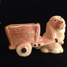 Vintage Planter  --  Dog Pulling Cart   --  195... - $15.99
