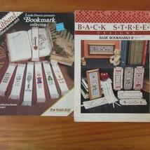 Bookmark Cross Stitch Pattern Charts Ribband Collection 1 & Back Street ... - $5.93