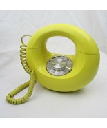 Vintage  Western Electric Yellow Round Donut Rotary Phone Retro Decor Mo... - $120.00