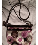 Coach Snaphead Sateenl Shoulder Handbag Tan/Pink/Brown - $39.59