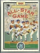 Baseball 1991 ALL STAR GAME OFFICIAL PROGRAM Ex+++ - $15.02