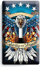 BALD EAGLE AMERICAN FLAG WINGS 1 GANG LIGHT SWITCH COVER WALL PLATES ROO... - $8.99