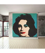 Reproduction Elizabeth Liz Taylor Wall Art On Canvas Andy Warhol  - $15.97+