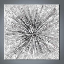 Abstract Painting Canvas Wall Art: Gray Artwork Hand Painted Picture for Office
