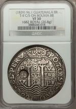 """BOLIVIA 1682 """"ROYAL"""" 8 REALES KING CHARLES II RARE POTOSI SILVER COIN TR... - $19,500.00"""