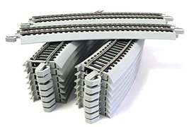 HO Scale Bachmann Nickel Silver EZ Track 16 Pieces 22 inch radius curves... - $84.25