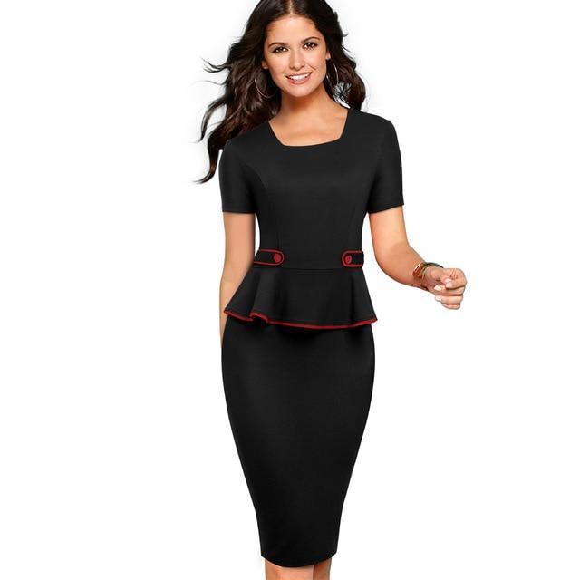 Usiness work bodycon sheath peplum female dress.jpg 640x640 6ae4beec 5b6f 42bb 9b61 f16dc9bb1674
