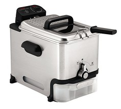 T-Fal FR8000 Deep Fryer with Basket, Oil Fryer with Oil Filtration, Easy to Clea image 1
