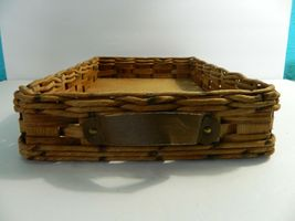 Vintage Pyrex Wicker Wood Long Casserole Dish Holder Cradle Fits 232 image 5