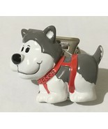 Alaskan New Resin Husky Dog Memo Magnet Clip - $8.90