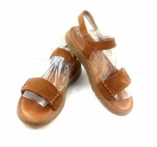Born Women's Sandals Distressed Brown Leather Slingback Open Toe Comfort Shoes 8 - $39.42