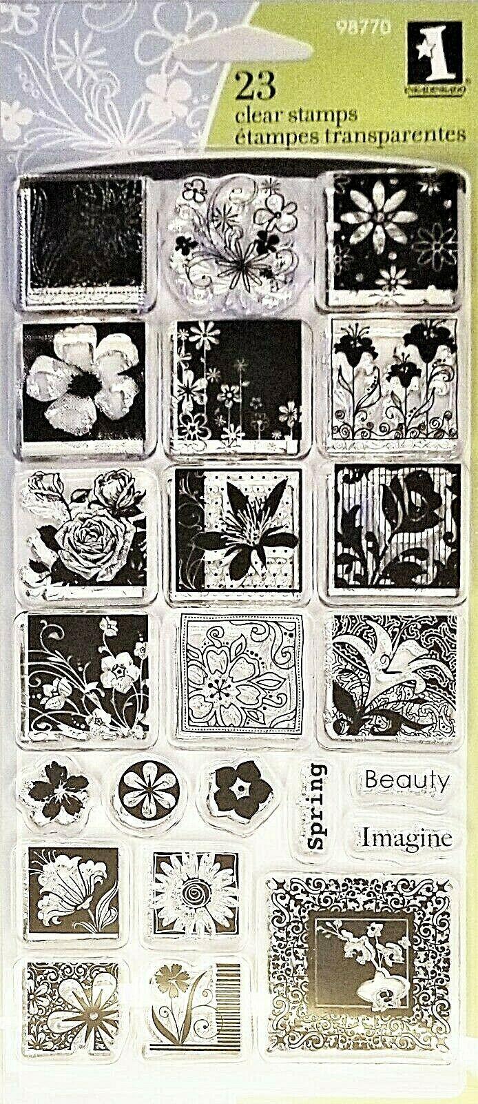 Inkadinkado Flower Garden Stamp Set