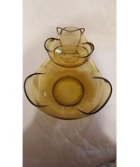 Vintage Anchor Hocking Accent Modern 3-Piece Chip-and-Dip Set - without ... - $26.45