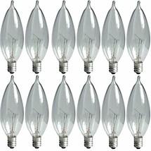 GE Lighting Crystal Clear 24782 40-Watt, 370/280-Lumen Bent Tip Light Bulb - $15.83