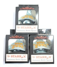Starr X Wall Mount Bottle Opener Beer Geek Metal Garage Bar Man CaveDeco... - £7.67 GBP