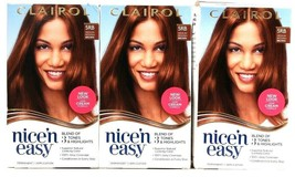 3 Boxes Clairol Nice N Easy 5RB Medium Reddish Brown Permanent Hair Dye ... - $26.99
