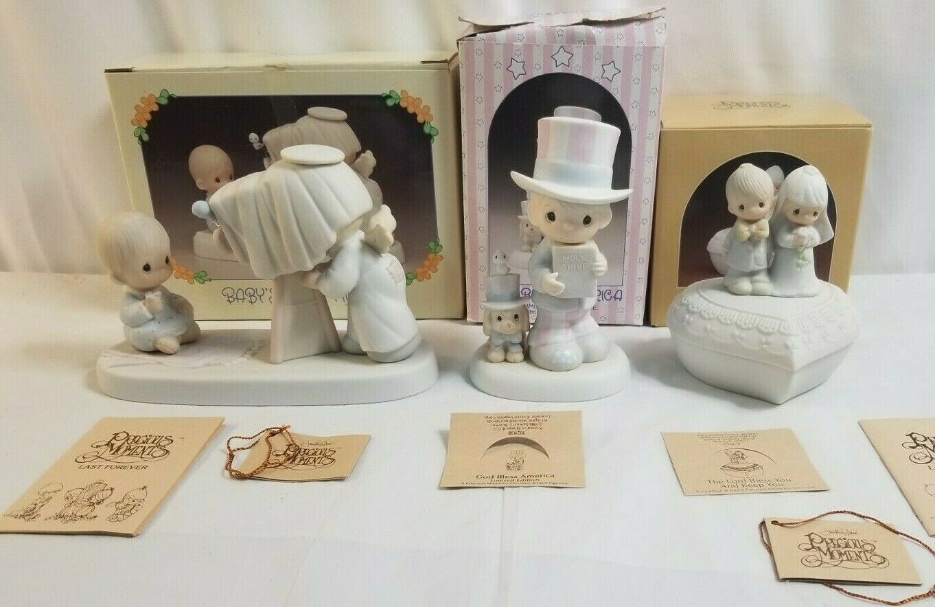 Primary image for 1981,1983, & 1986 PRECIOUS MOMENTS Lot of 3 Members Only Figurines PM Lot 20