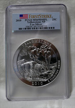 2010 PCGS MS69 DMPL FS Yellowstone 5 OZ .999 SILVER Coin America The Bea... - $339.95