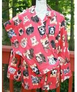 Nick & Nora Size Medium Flannel Pajama Set Red Dogs Milk Bone 100% Cotto... - $28.25